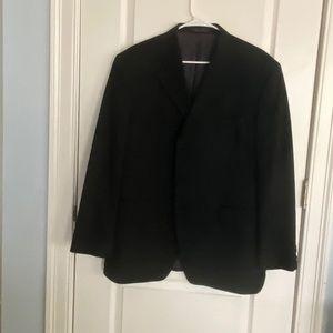 Men's black pin stripped suit